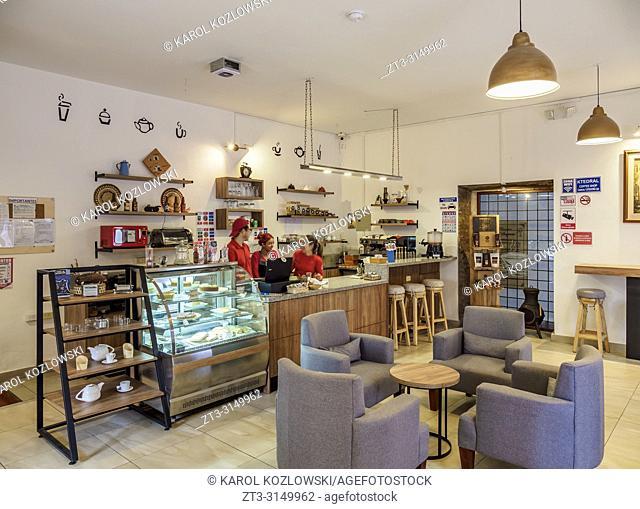 Ktedral Coffee Shop, interior, Old Town, Quito, Pichincha Province, Ecuador