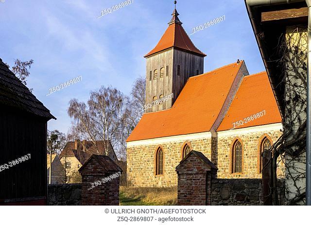 Village church of Gross Ziethen near Angermünde, Brandenburg, Germany