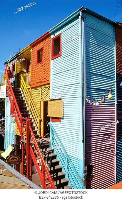 Caminito street houses. La Boca district. Buenos Aires. Argentina