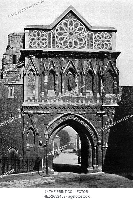 'The Ethelbert Gate, Norwich', 1892, (1903). From Social England, Volume II, edited by H.D. Traill, D.C.L. and J. S. Mann, M.A
