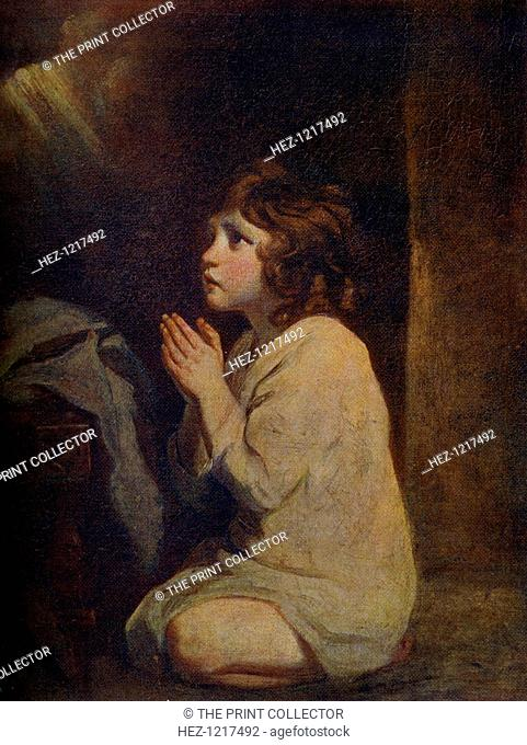 'The Infant Samuel', c1776, (1912). A colour print from Famous Paintings with an introduction by Gilbert Chesterton, (Cassell and Company, London, New York