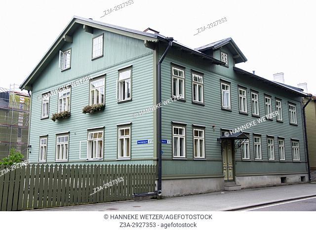 Traditional houses of the Kalamaja area in Tallinn, Estonia, Europe