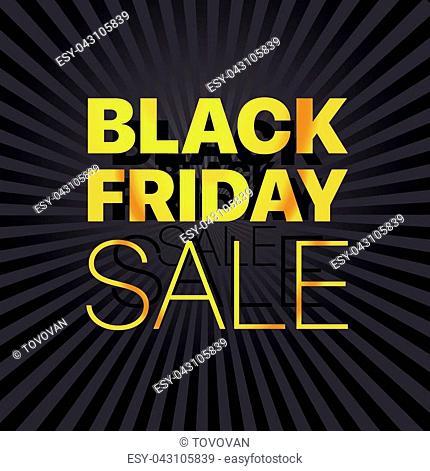 Black Friday Sale Logo. Black Friday sale vector banner