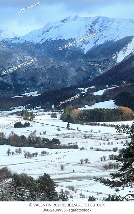 Mountainous landscape in Belagua, Roncal valley, Navarre, Pyrenees Mountains, Spain