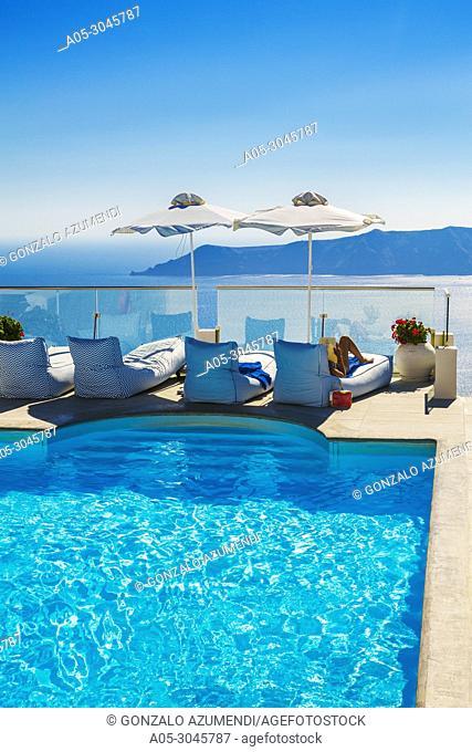 Hotels in Imerovigli. Santorini Island. Ciclades Islands. Greece