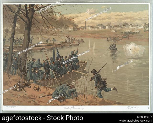Battle of Fredericksburg. L. Prang & Co. (Publisher) Thulstrup, Thure de (1848-1930) (Artist). Publisher's proofs of the publications of L. Prang & Co