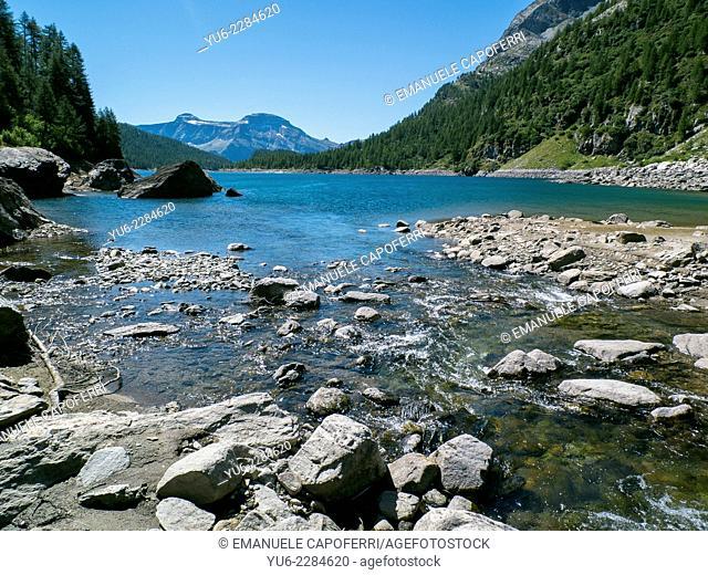 Lake Devero, Alpe Devero, Piedmont, Italy