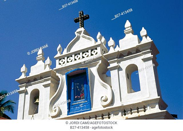 Chapel of St. Anthony's bell gable, Calangute. Goa, India
