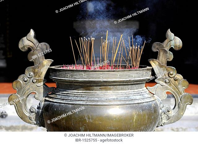 Incense sticks in front of the Thien Mu Pagoda, Hue, North Vietnam, Vietnam, Southeast Asia, Asia