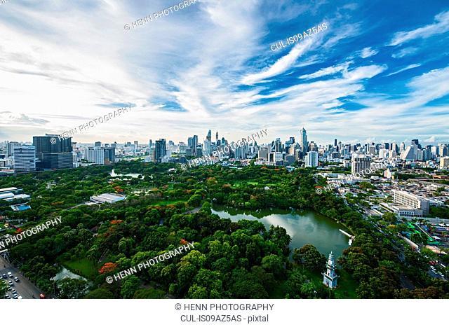 Panorama view of Bangkok, Thailand