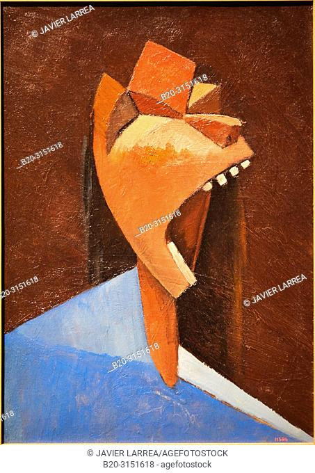 """""""Head Shouting"""", c.1936-1939, Juli González, National Museum of Catalan Art, Museu Nacional d Art de Catalunya, MNAC, Barcelona, Spain, Europe"