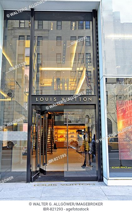 Louis Vuitton boutique in Manhattan, New York City, USA