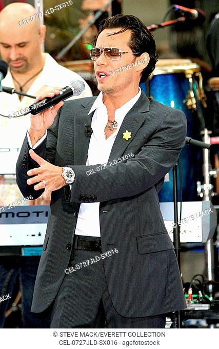 Marc Anthony on stage for The NBC Today Show Concert with Marc Anthony, Rockefeller Center, New York, NY, July 27, 2007. Photo by: Steve Mack/Everett Collection