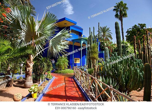 The Jardin de Majorelle gardens in Marrakesh, Morocco