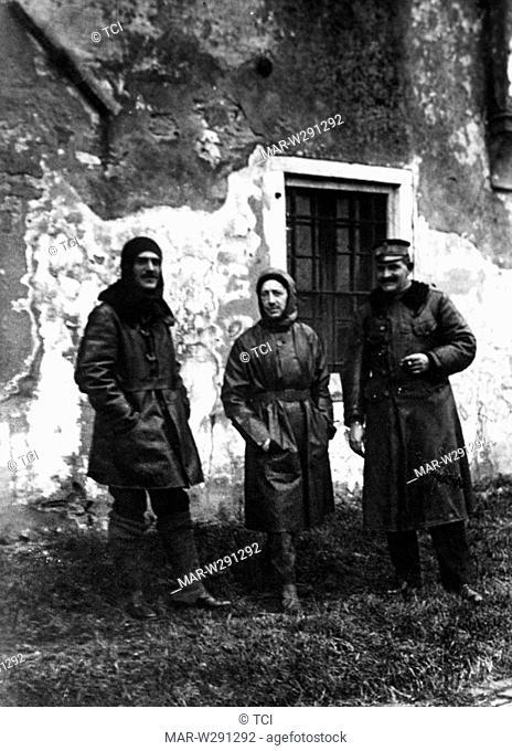 luigi rizzo, gabriele d'annunzio, costanzo ciano, autori della beffa di buccari, 1918