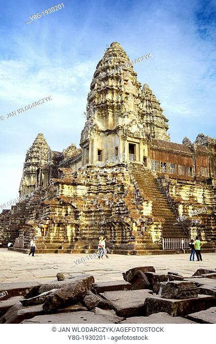 Angkor ancient city, the old capital of Khmer Empire, Angkor Wat Temple, Cambodia, Asia (UNESCO)