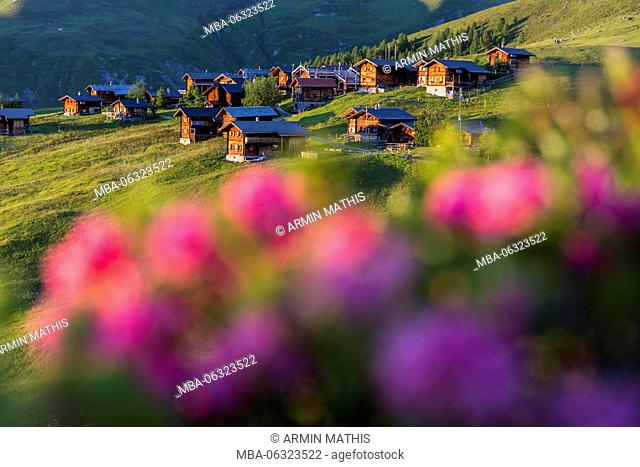 evening mood with a Swiss Walser village