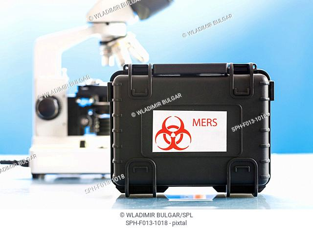 Mers (Middle East respiratory syndrome) sample in a protective case