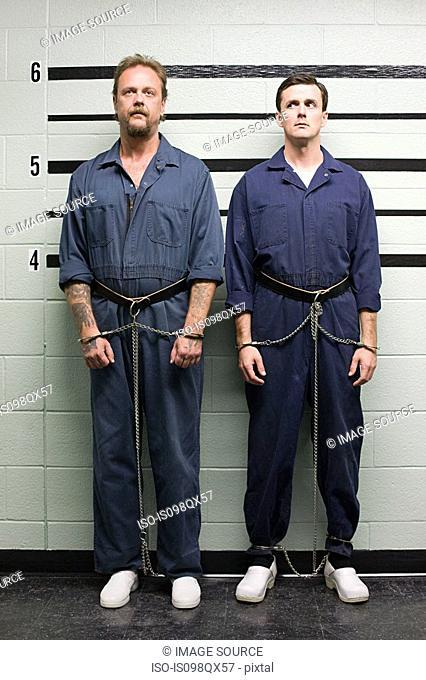 Prisoners on line up