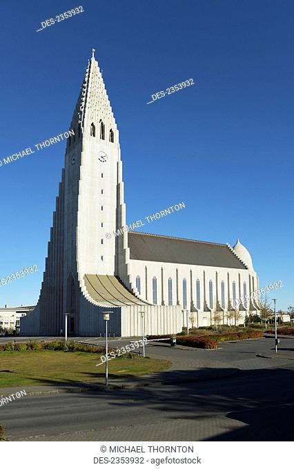 Hallgrimskirkja, The Lutheran Parish Church Of Iceland; Reykjavik, Gullbringusysla, Iceland