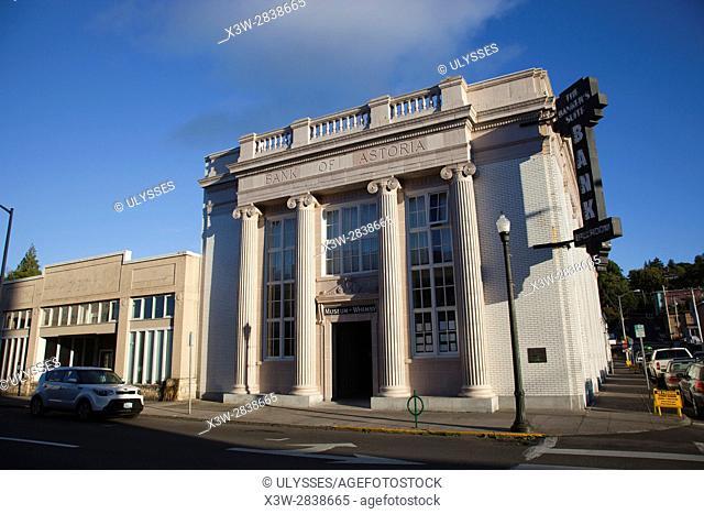Bank of Astoria, Astoria, Oregon, USA, America