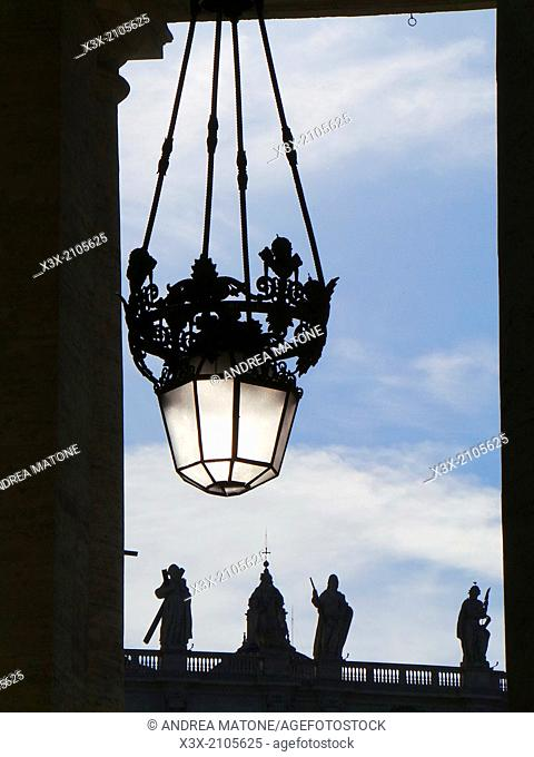 Details of Saint Peter's square. Rome, Italy