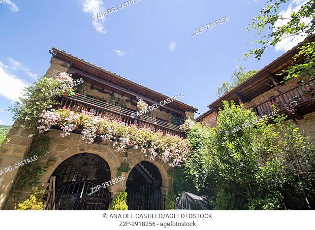 Barcena Mayor is one of the most beautiful villages in Spain Cantabria Spain on July 2,2017