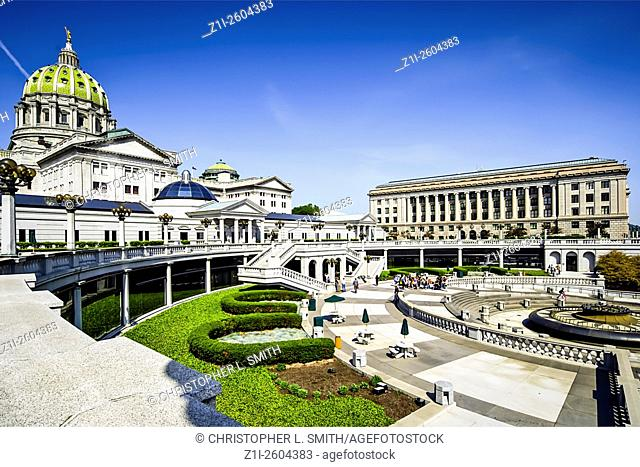 The State Capitol building at Harrisburg Pennsylvania PA