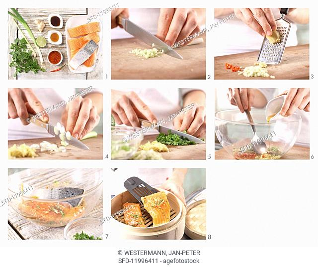 How to prepare steamed fillet of salmon