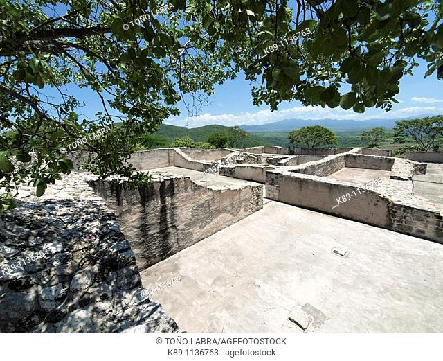 West Palace. Xochicalco archaelogical site. Mexico