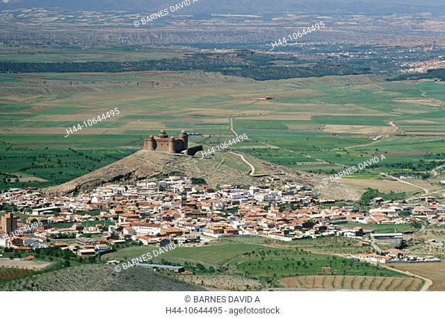 10644495, Andalusia, castle, village, La Calahorra, province Granada, Sierra de loose Filabres, Spain, Europe, overview
