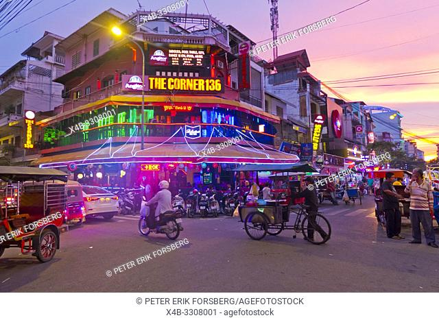 Street 136, Riverfront area, Phnom Penh, Cambodia, Asia