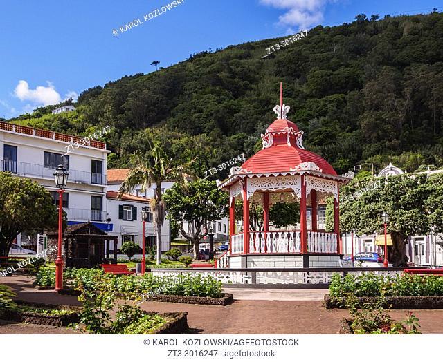 Bandstand in Jardim da Republica, Velas, Sao Jorge Island, Azores, Portugal