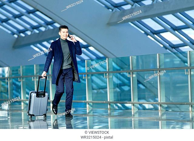 Business man at the airport
