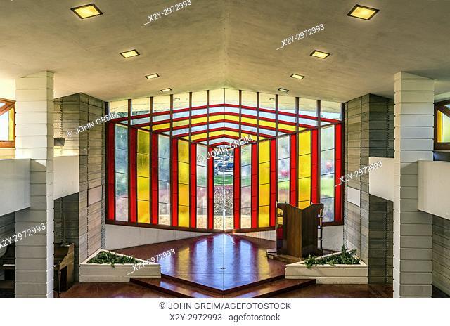 Danforth Chapel exterior designed by Frank Loyd Wright, Florida, Florida Southern College, Lakeland, USA