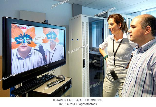 Mi+Cara project, facial recognition system which features a mask on users' faces, Internet of Things lab, Tecnalia Research & Innovation, Zamudio, Bizkaia