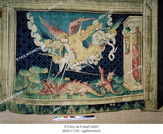La Tenture de l'Apocalypse d'Angers, Saint Michel combat le dragon 1,71 x 2,50m, der heilige Michael kämpft mit dem Drachen