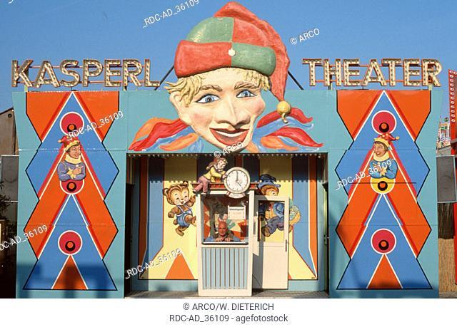 Punch and Judy Show at public festival Cannstatt Stuttgart Baden-Wurttemberg Germany