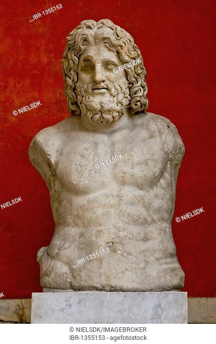 Marble bust of Zeus, Glyptotek, Copenhagen, Denmark, Europe