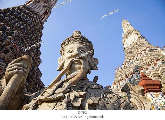 Asia, Thailand, Bangkok, Wat Arun, Temple of Dawn, Temple, Temples, Thai Temple, Thai Temples, Stupa, Stupas, Chedi, Chedis, Religion, Buddhism, Buddhist