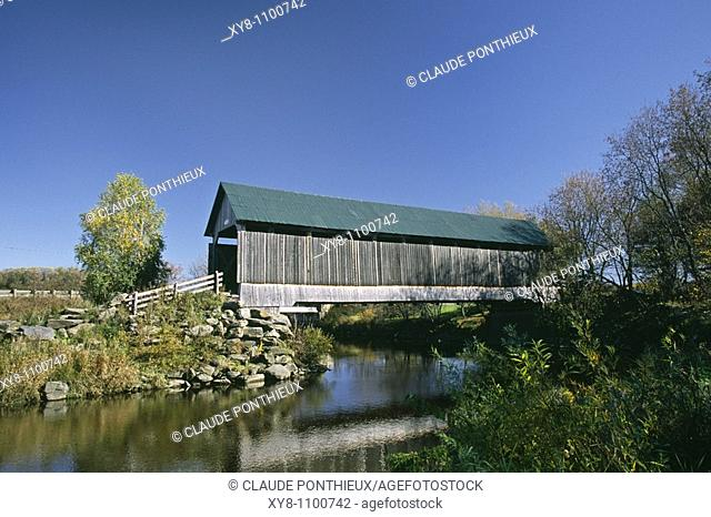 Drouin covered-bridge, Compton, Quebec, Canada