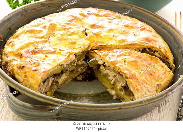 Börek with potato and chicken