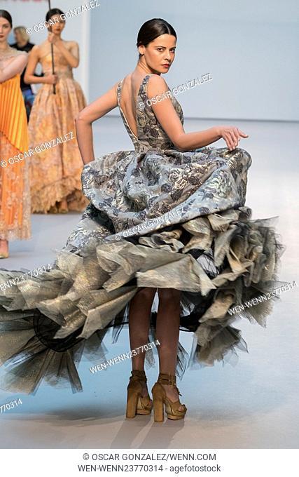 650ce16f9 De la Cierva y Nicolas Bridal Show - Pasarela Costura held at the Cibeles  Palace Featuring