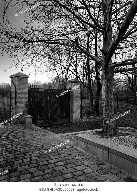 Old Gate and Entrance, Headquarters of Reich Main Security Office, SD, Gestapo and SS in Nazi Germany, Berlin, Germany