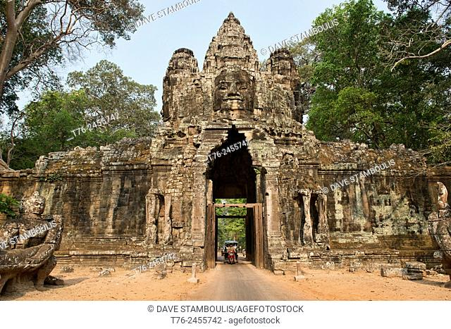 The East Gate of Angkor Thom at Angkor Wat in Siem Reap, Cambodia