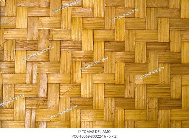 Close-up detail of Hawaiian lauhala mat, background