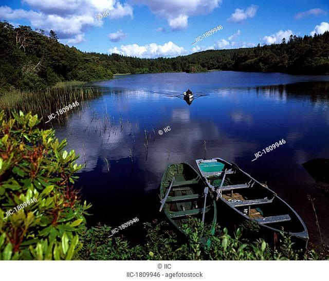 Salmon Fishing, Ballinahinch, Connemara, Co Galway, Ireland