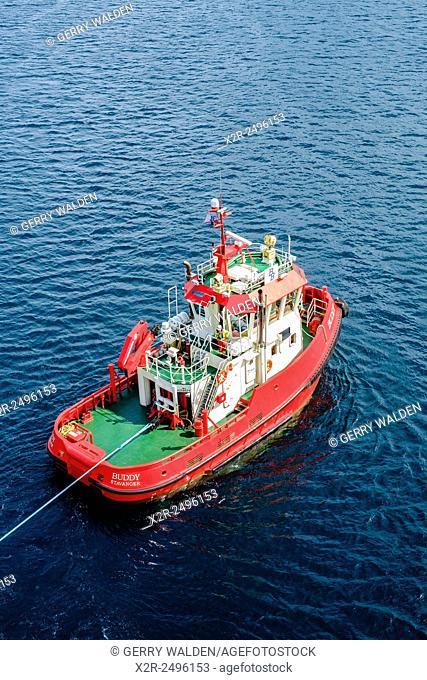 Tugboat 'Buddy' working in Stavanger harbour, Norway