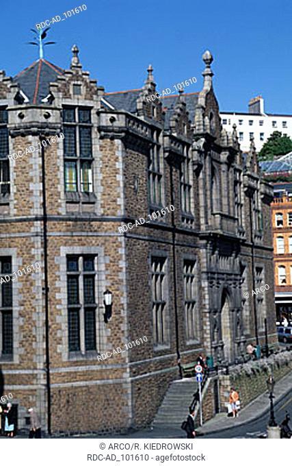 Market hall St. Peter Port Guernsey Channel Islands Great Britain