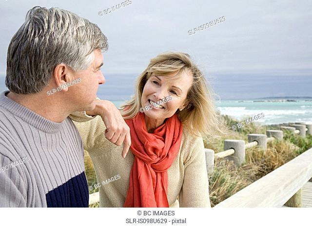 Mature couple at the coast
